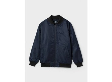 Stussy Flight Satin Bomber Jacket Navy 115303/0806