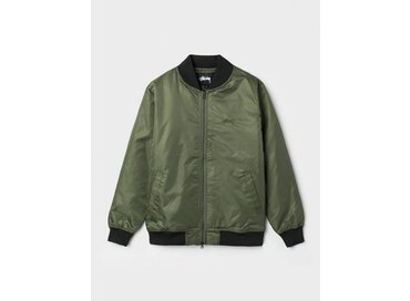 Stussy Flight Satin Bomber Jacket Olive 115302/0403