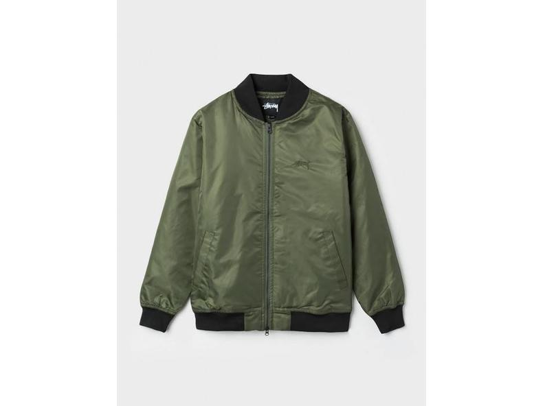 Flight Satin Bomber Jacket Olive 115302/0403