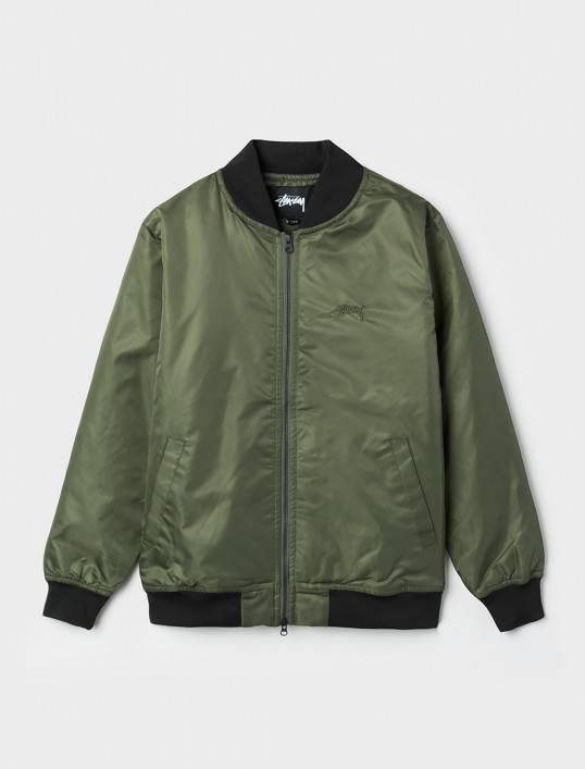 Flight Satin Bomber Jacket Olive 115302/0403
