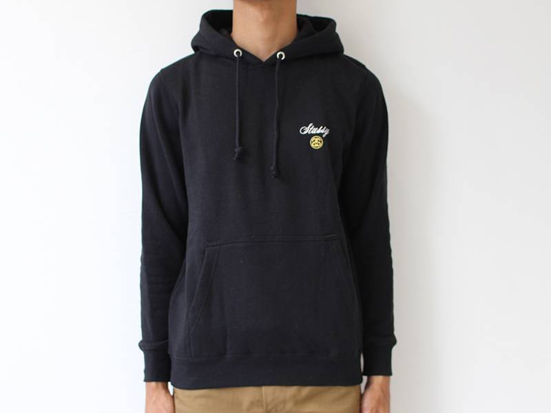 Script Int. Embroidered Hoodie Black/White