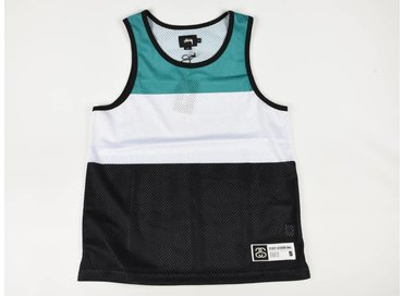 Stussy Track & Field Tank Black/Green/White