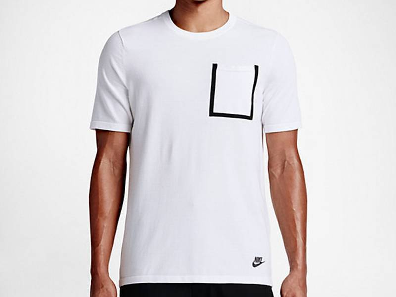 Tech Knit Pocket Tee White/White/Black 729397 100