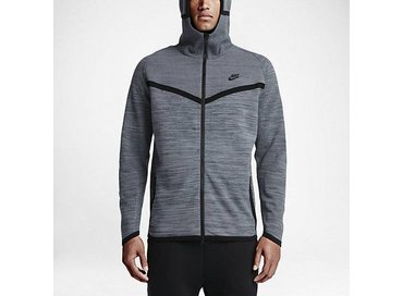 Nike Men's Sportswear Tech Knit Windrunner Jacket Cool Grey/Dark Grey/Black 728685 043