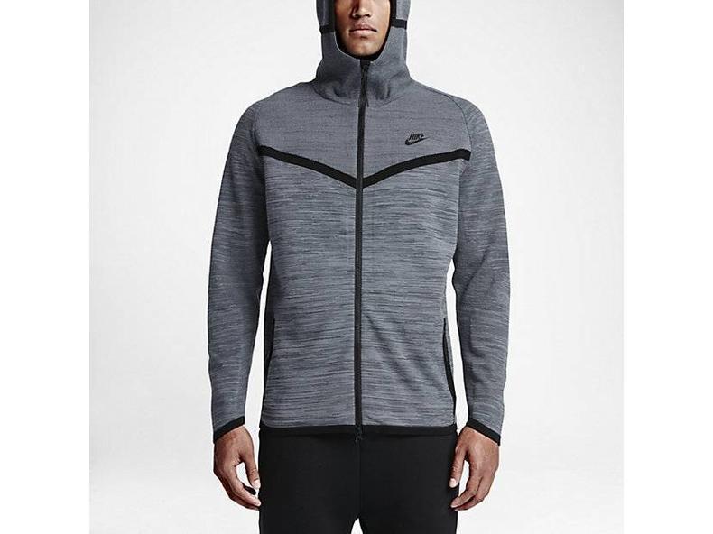 Men's Sportswear Tech Knit Winderunner Jacket Cool Grey/Dark Grey/Black 728685 043