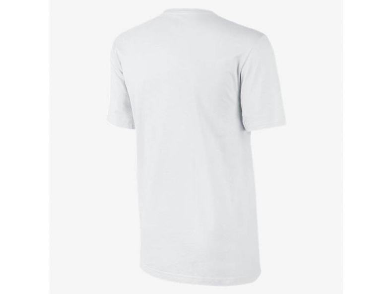Men's Embroided Swoosh T-Shirt White/Tech Grey
