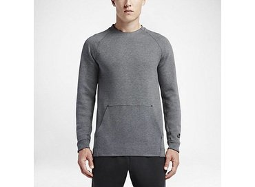 Nike Tech Fleece Crew Carbon/Heather Black 805140 091