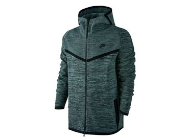 Nike Men's Sportswear Tech Knit Windrunner Jacket Black/Hasta/Cannon Black 728685 011