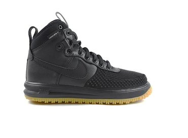 Nike Lunar Force 1 Duckboot Black/Black/Metallic Silver 805899 003