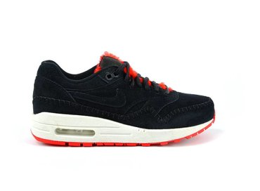 Nike Air Max 1 Sherpa PRM Black Action Red-Summit White 454746 010