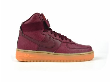 Women's Air Force Hi SE Shoe Night Maroon/Night Maroon-Dark Cayenne 860544 600