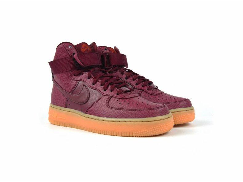 Women's Air Force Hi SE Shoe Night Maroon/Night Maroon-Dark Cayenne 860544 600