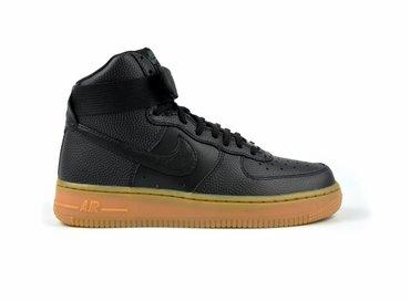 Nike Women's Air Force Hi SE Black/Black-Dark Grey-Gum Med Brown 860544 002