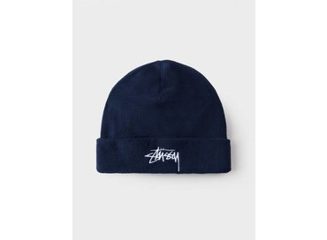 Stussy Polar Fleece Beanie Navy