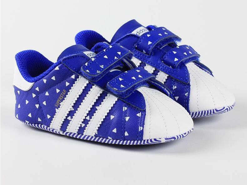 Superstar Crib Blue/White B25510