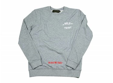 In Gold We Trust Gothic Sweater Grey FAS-029