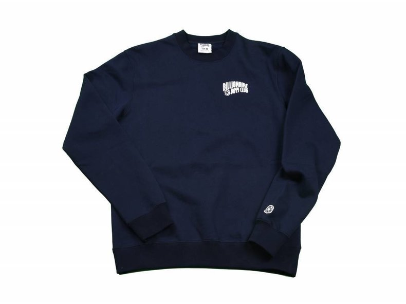 Small Arch Logo Crewneck Navy/White B16351