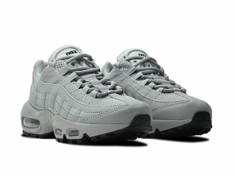 nike air max 95 silver and black