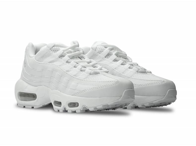 WMNS Air Max 95 White/White-Pure Platinum 307960 104
