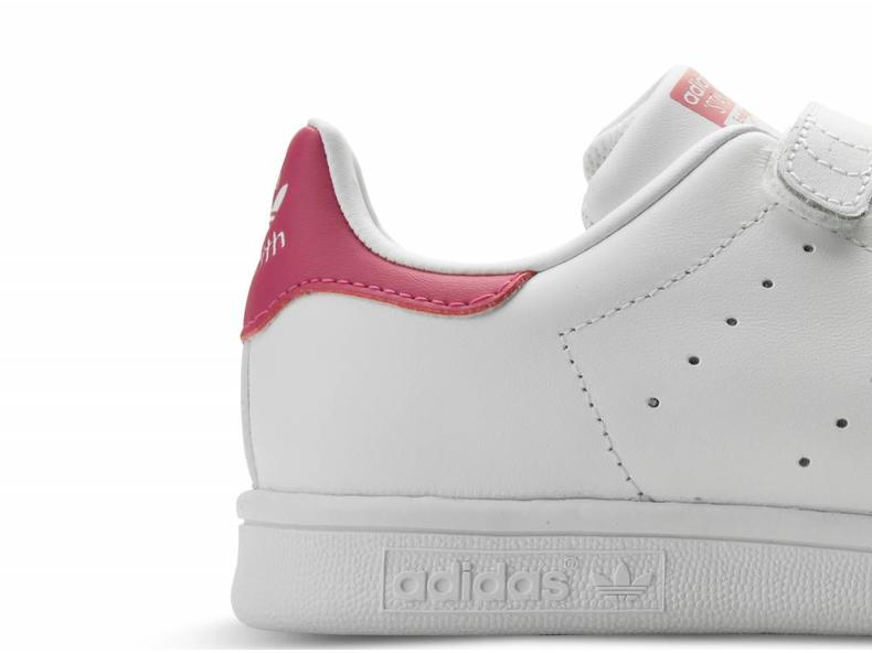 Stan Smith White/Bold Pink B32706