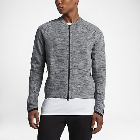 Sportwear Tech knit Jacket Carbon Heather/Black/Cool Grey/Black 832178