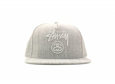 Stussy Stock Lock FA16 Cap Grey Heather