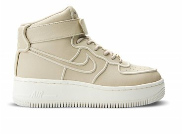 Nike WMNS AF1 Upstep Hi Si Oatmeal/Oatmeal 881096 112