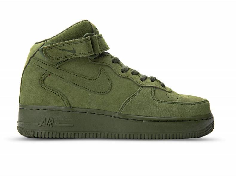 Nike Air Force 1 07 Mi Chaussures Vert 92J9BqUDkg