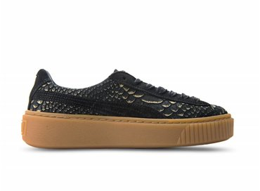 Puma Platform Exotic Skin Black/Gold 363377 01