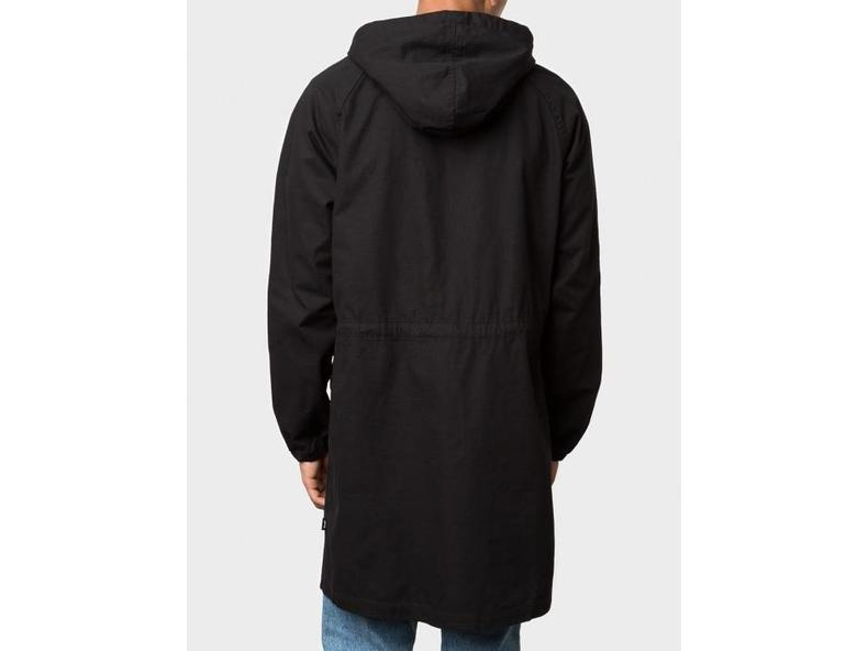 Light Ripstop Hooded Jacket Black 115326