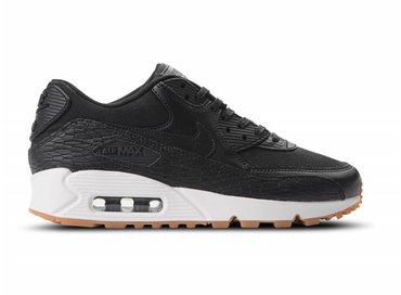 Nike Air Max 90 Premium Leather Black Black Dark Grey 904535 001