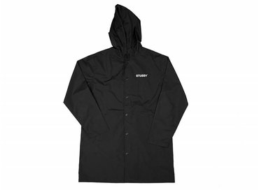 Stussy Long Hooded Coach Jacket Black 115327 0001