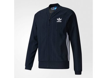 Adidas STT Denim Trainingsjack Legend Ink White BK2227