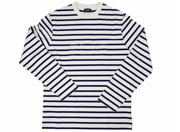 Olaf Hussein Striped Long Sleeve White Black SS17-009