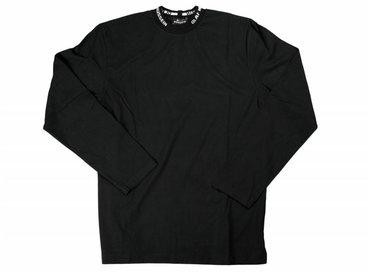 Olaf Hussein Dan Branded Rib Longsleeve Black SS17-008