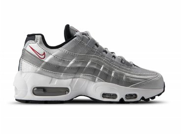 Nike Air Max 95 QS Metallic Silver Varsity Red 814914 002