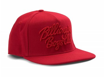 Billionaire Boys Club Script Logo Snapback Red B17263