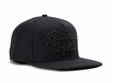 Billionaire Boys Club Script Logo Snapback Black B17263