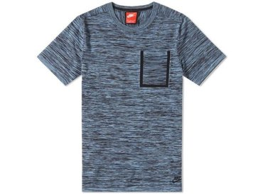 Nike Tech Knit Pocket Tee Black Ocean Fog Blue Grey 729397 014