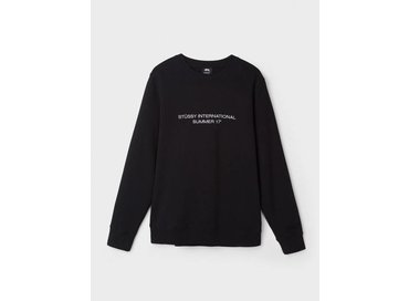 Stussy INTL Summer Application Crew Black 118237
