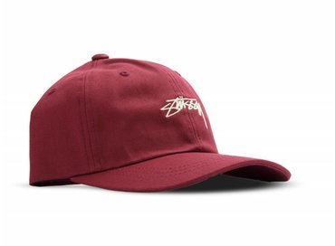Stussy Smooth Stock Low Cap Red 131718  0601