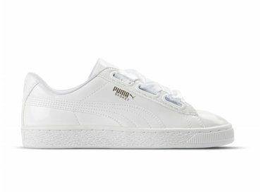 Puma Basket Heart Patent White 363073 02