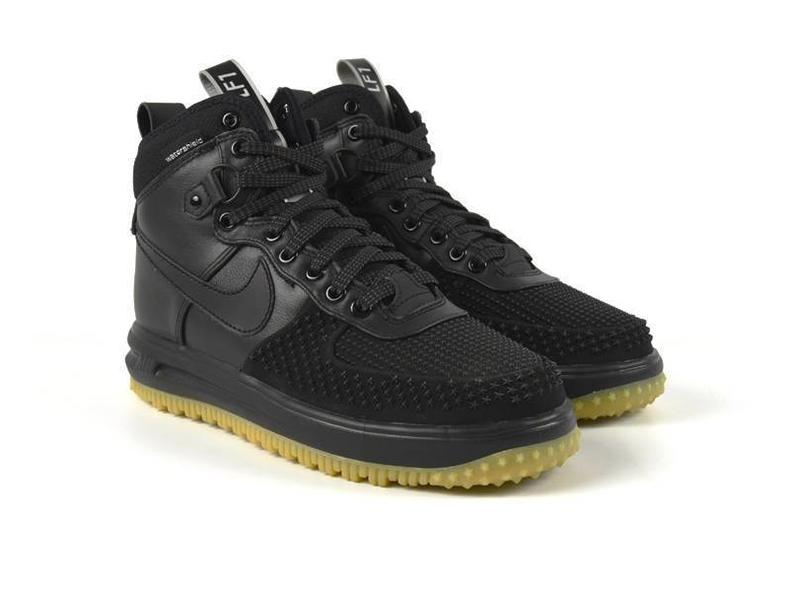 Lunar Force 1 Duckboot Black/Black/Metallic Silver 805899 003
