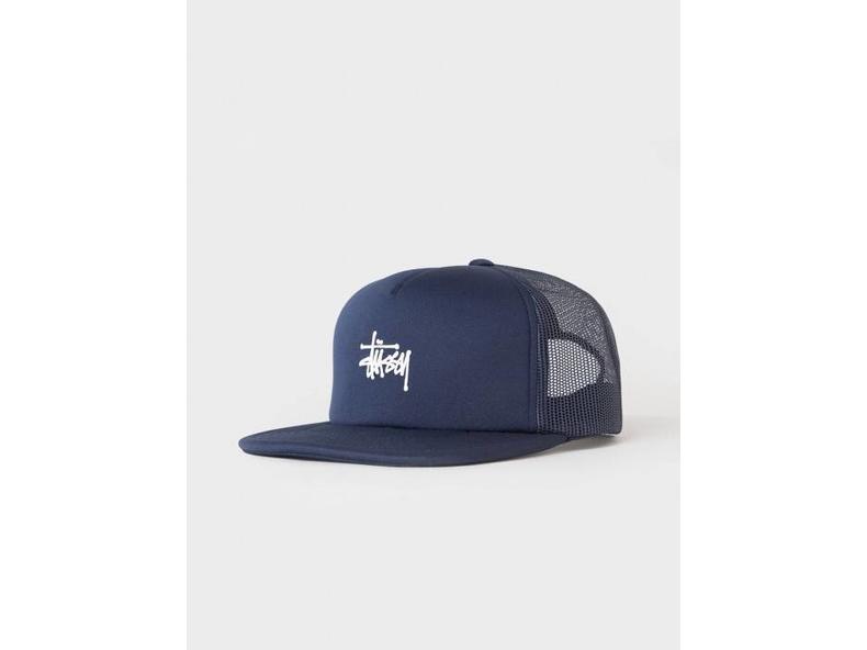 Puff Print Stock Trucker Cap Navy 131703 0806