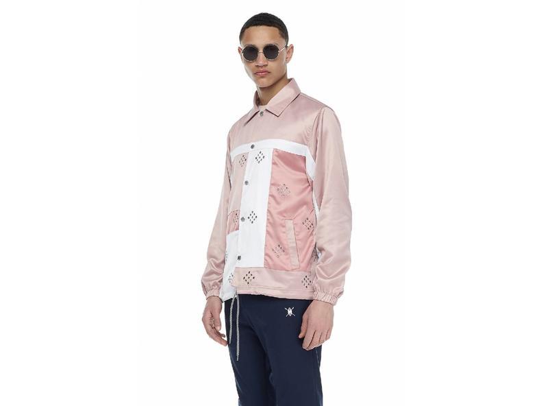 Pink Eyelet Coach Jacket SS17OW52