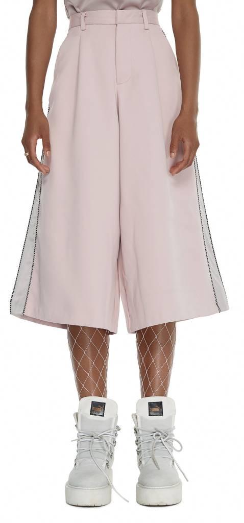 Pink Satin Flare Pants SS17WB30