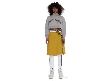 Daily Paper Grey Carly Cropped Hoody SS17WT23