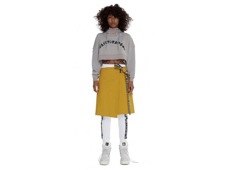 Grey Carly Cropped Hoody SS17WT23