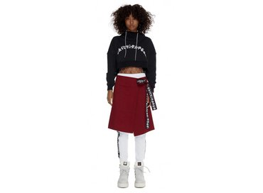 Daily Paper Black Carly Cropped Hoody SS17WT22