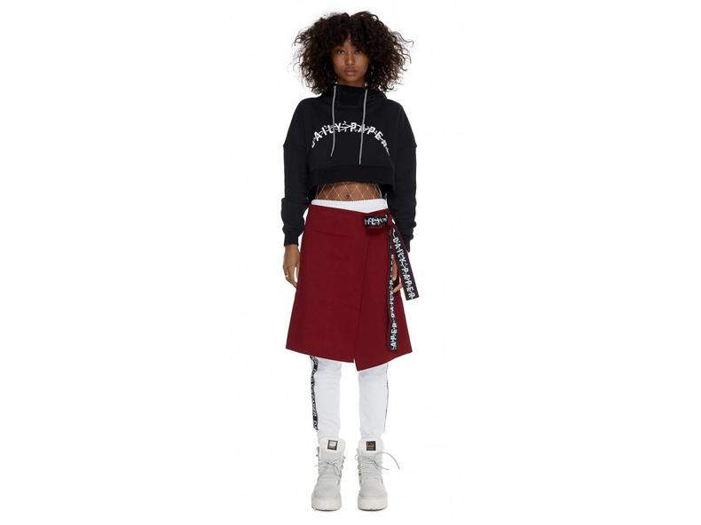 Black Carly Cropped Hoody SS17WT22